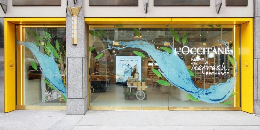 l'Occitane, winner of the Retail Design Institute's Store of the Year competition for 2018