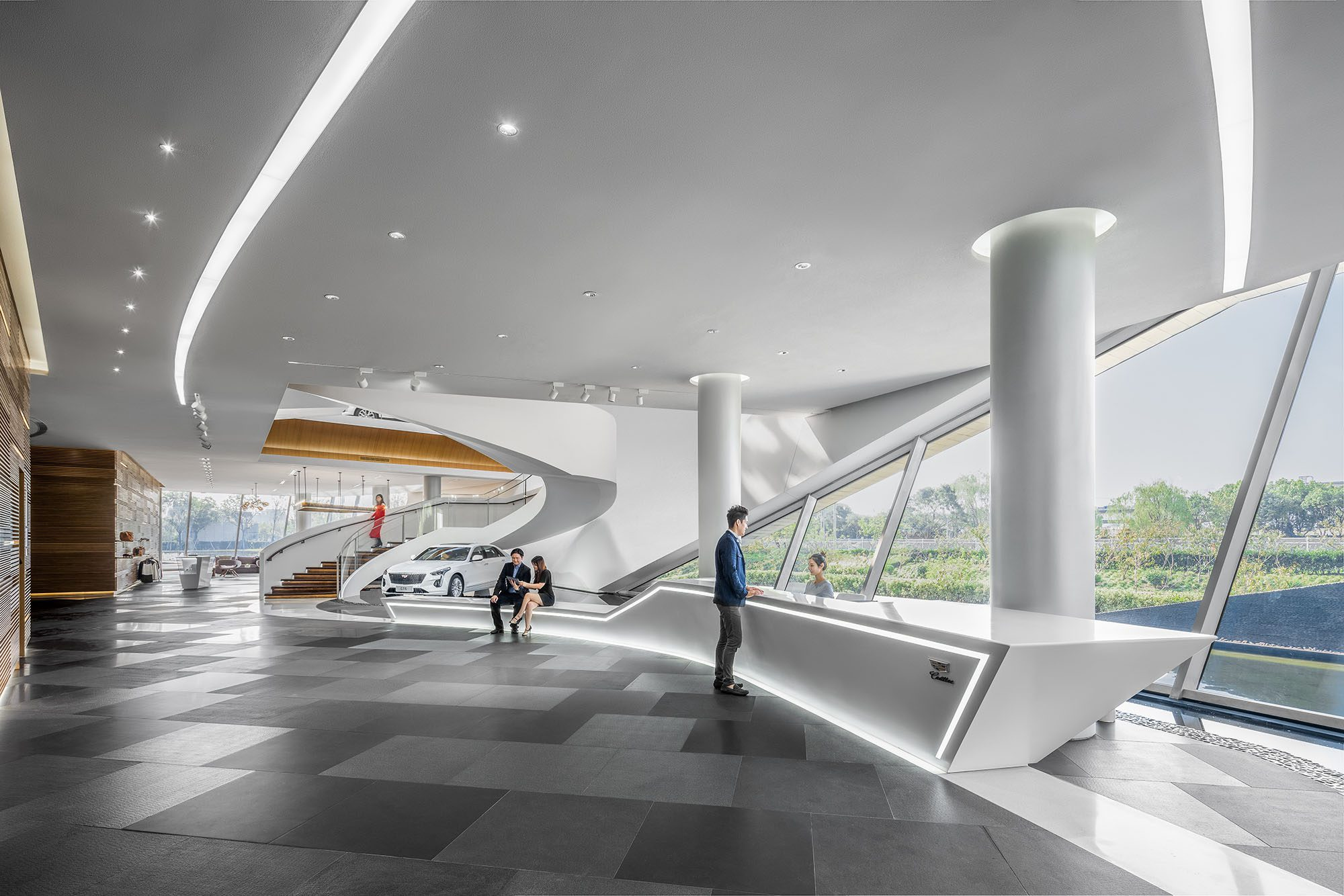Cadillac House in Shanghai, China, is the Retail Design Institute's 2019 Store of the Year